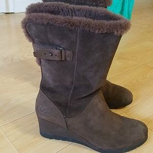 Ugg wedge boots Brown